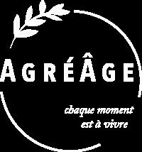 Agréâge logo blanc fond transparent